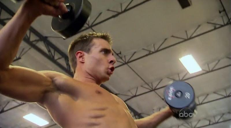 Tony Pieper Shirtless in The Bachelorette s8 week 1