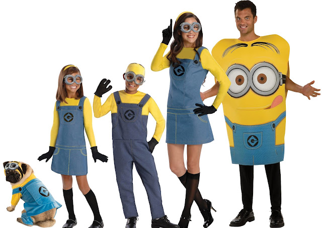 minion costumes for adult, kids and pets