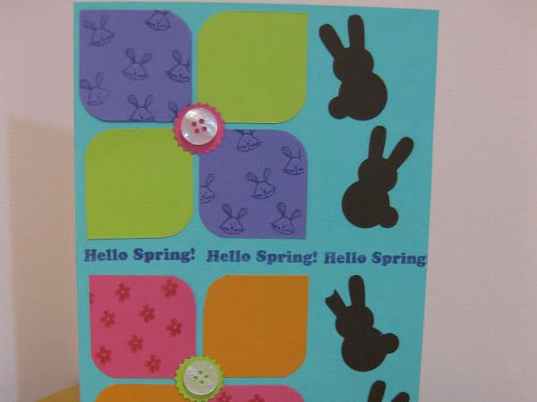 Retro Flowers Spring Card