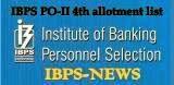 ibps po-II 4th list