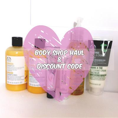body shop sale haul discount code