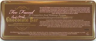 Too Faced - Semi-Sweet Chocolate Bar - palette back