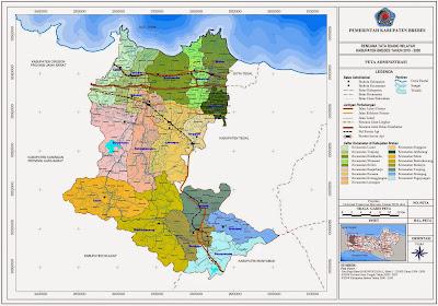 Peta Administrasi Kabupaten Brebes