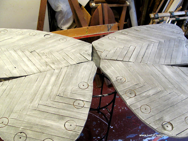 wooden recycled art butterfly wings