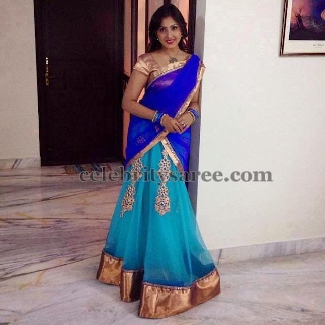 Madhushalini Sky Blue Half Saree