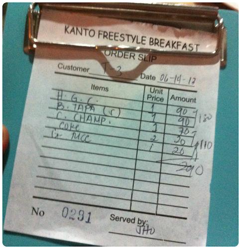 Kanto Freestyle Breakfast Marikina