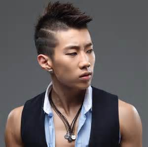 Model rambut pria k-pop korea  Short mohawk k-pop style