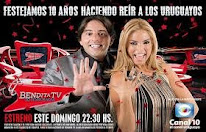 CLAUDIA Y EL PIÑE CON BENDITA TV:  DOMINGOS 22:30 HRS POR CANAL 10