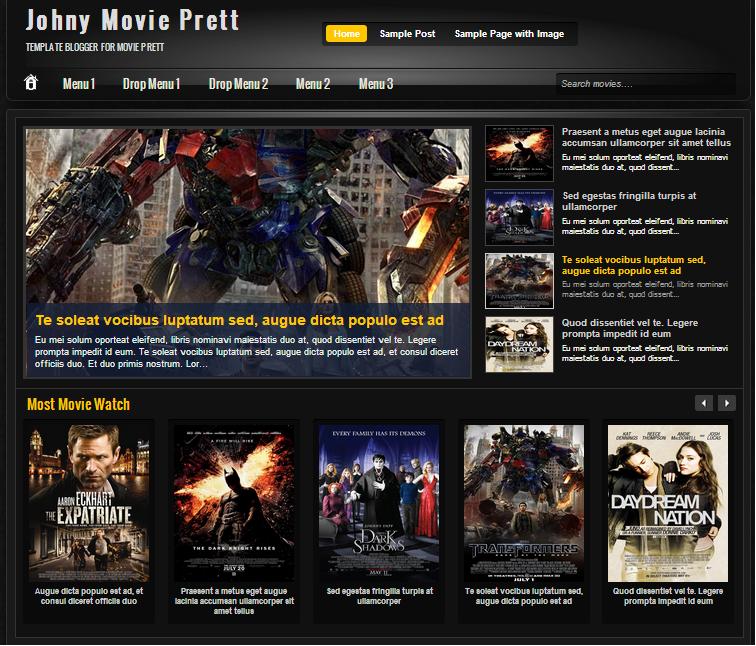 Template Movie Johny Prett - Theme phim cho blogspot