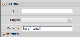 Gambar - variable huruf_tampil pada panel options