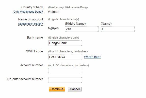 Cách rút tiền từ PayPal về Tài khoản Đông Á Bank