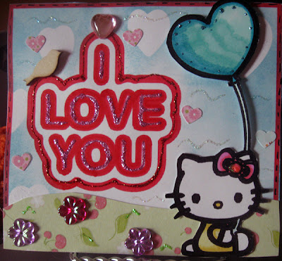 LovetoCreateCards: Hello Kitty Love you Card