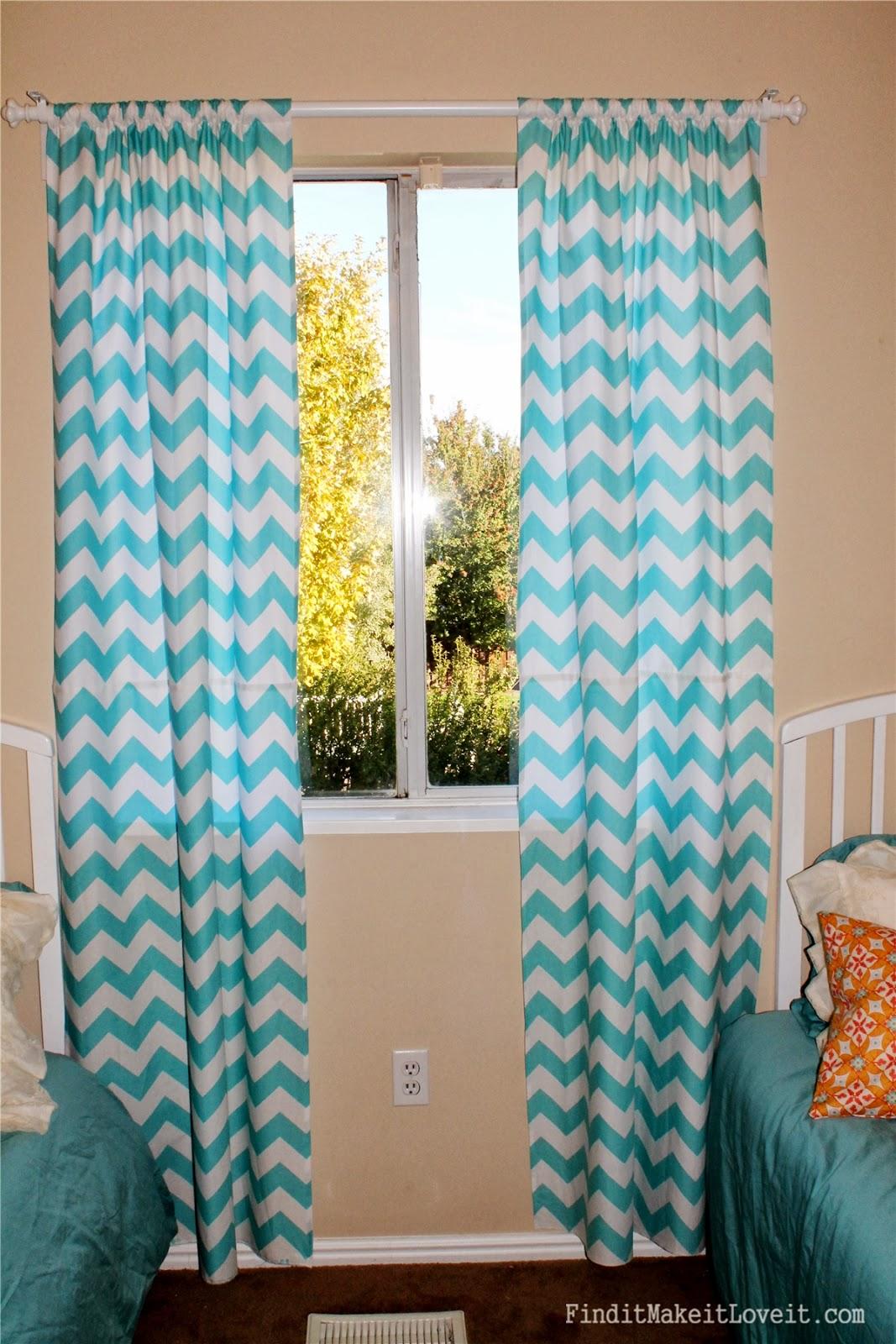Chevron bedroom curtains