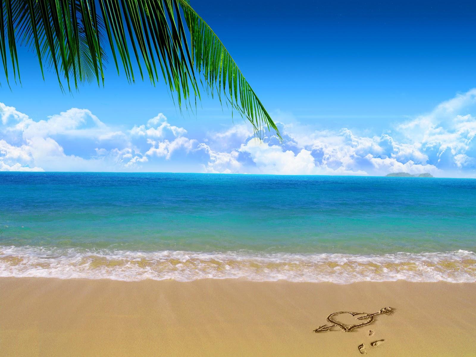 fondos de pantalla del coraz n de playa imagenes de
