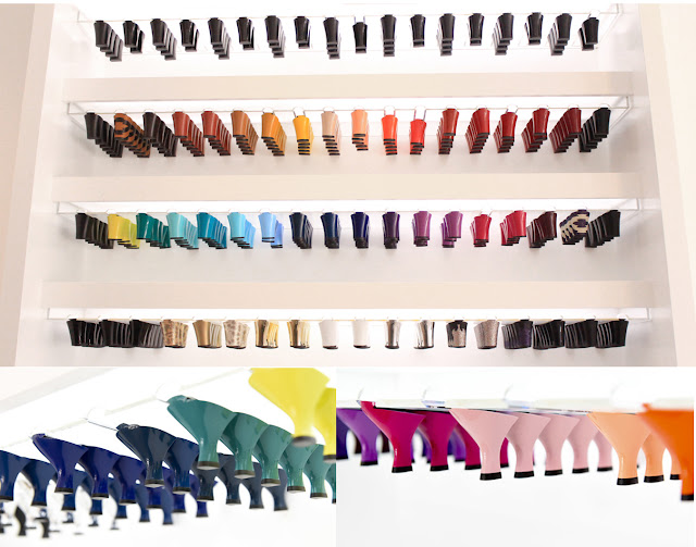 Heel selection for Tanya Heath Paris shoes