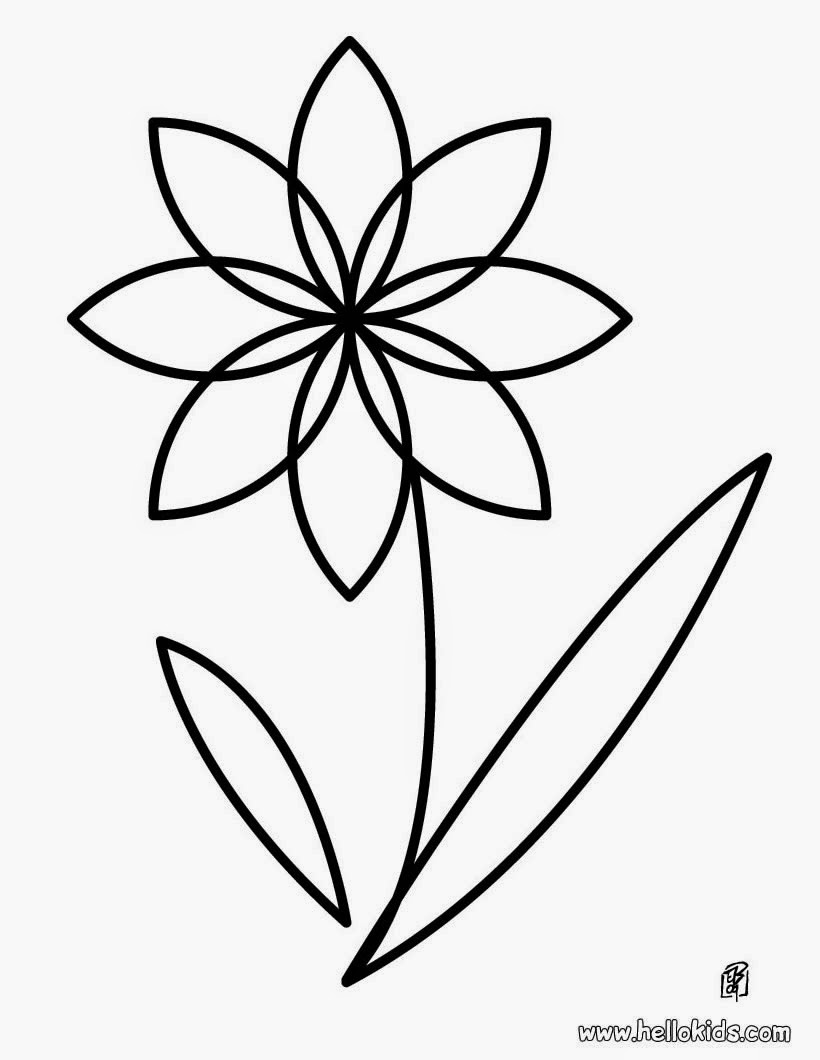 Beautiful flower coloring pages - Flower Coloring Pages 10