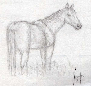 Old horse art @fuzzydragons.com