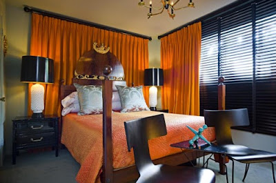 foto dormitorio naranja