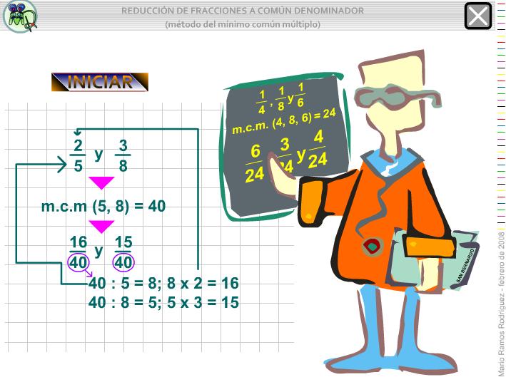 http://www.gobiernodecanarias.org/educacion/3/WebC/eltanque/todo_mate/fracciones_e/ejercicios/mtdo_mcm_p.html