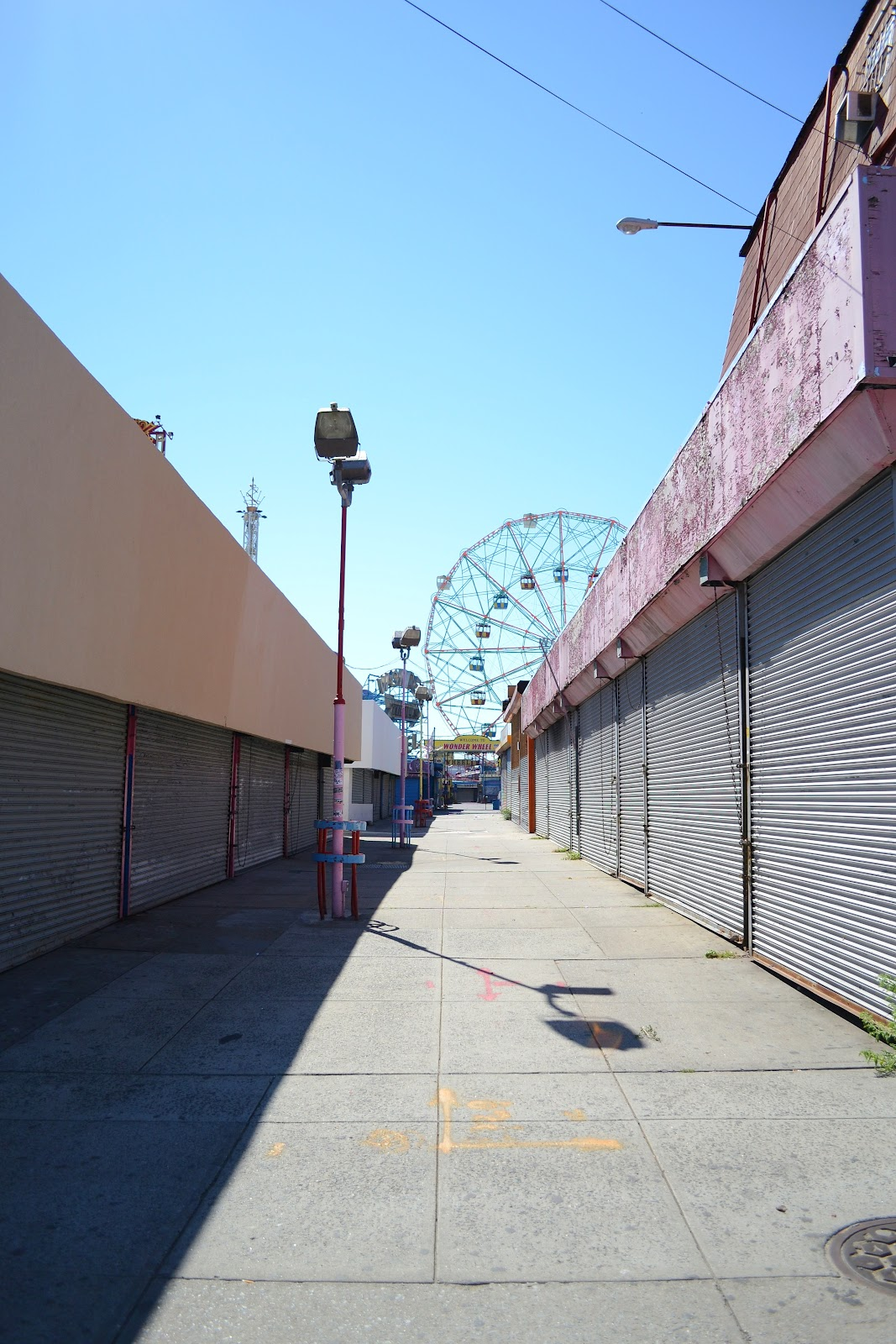 deserted funfair coney island