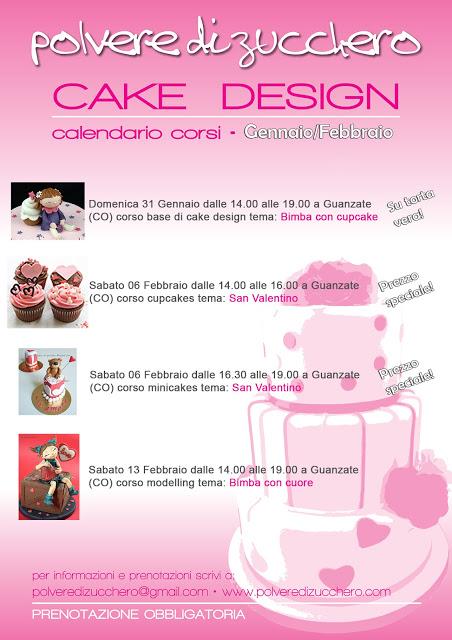 corsi di cake design: il calendario dei prossimi corsi da gennaio ad aprile