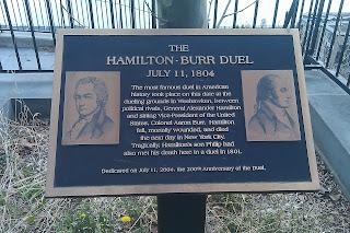 Hamilton Burr duel site