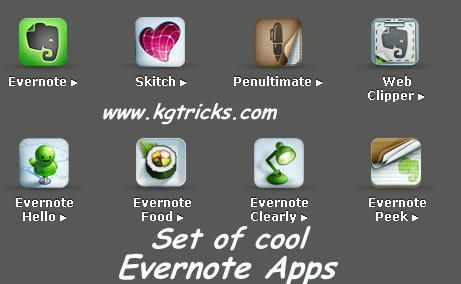 List of All Evernote Applications