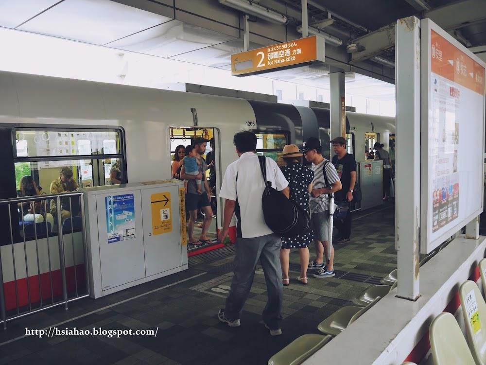 沖繩-交通-單軌電車-電車站-月台-那霸-教學-Okinawa-yui-rail- transport-train