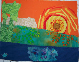 Original version of the landscape quilt