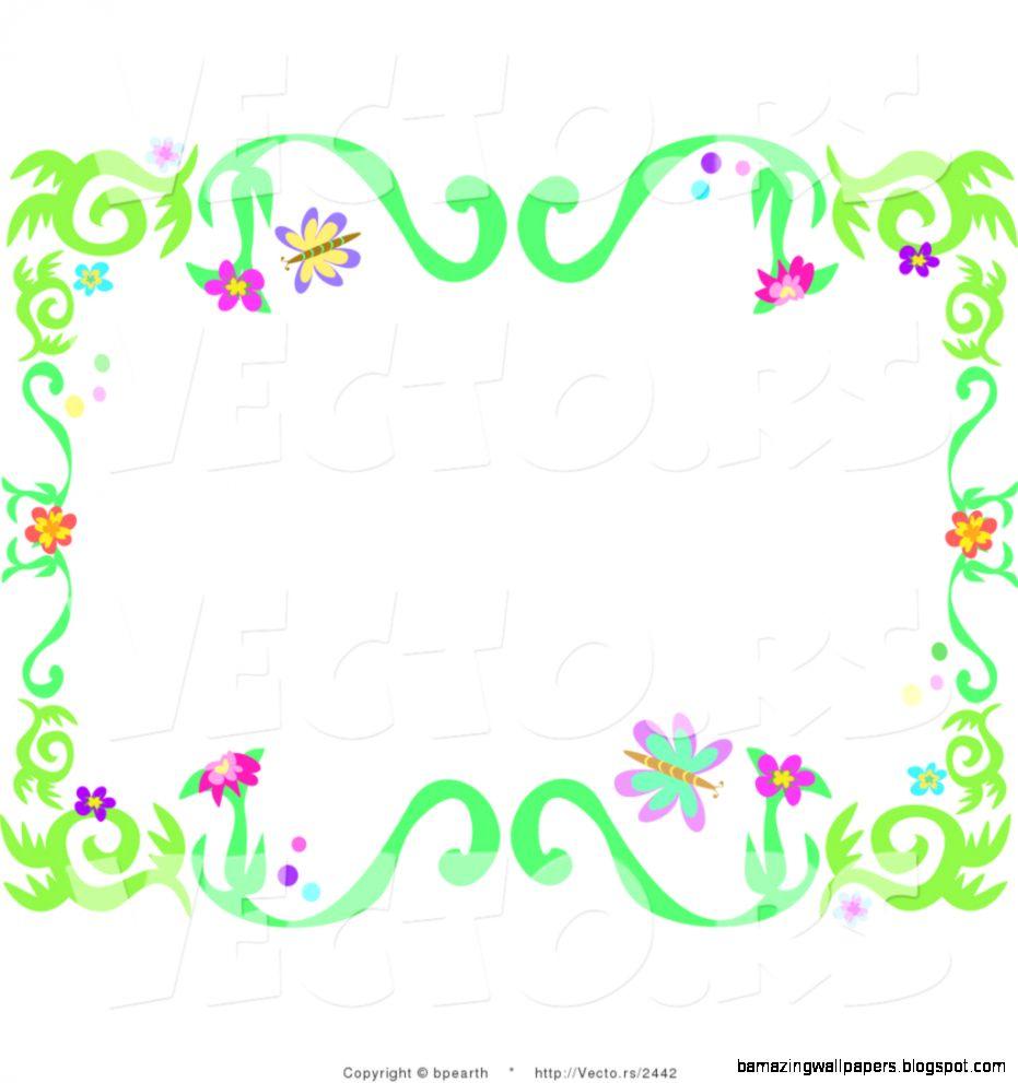 Spring Flowers Clip Art Border id 78964 – BUZZERG