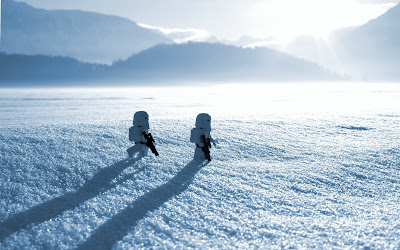 Lego Stormtroopers on Snow HD Desktop Wallpaper