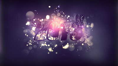 Happy New Year 2013 Wallpaper purple collections