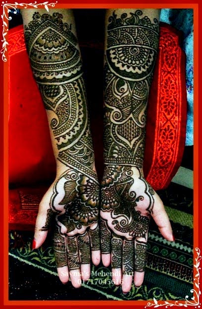 Simple Mehndi Designs 2014 for Girls