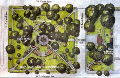 Ludington City Park plan
