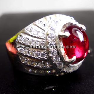 Batu Permata Merah Delima Merah Ruby Red Sapphire