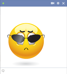 Arrogant Facebook emoticon