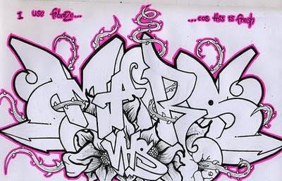 Graffiti fonts wildstyle sketches unique graffiti designs