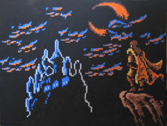Castlevania вышивка, схема кастельвания, своими руками, .cross stitch pattern