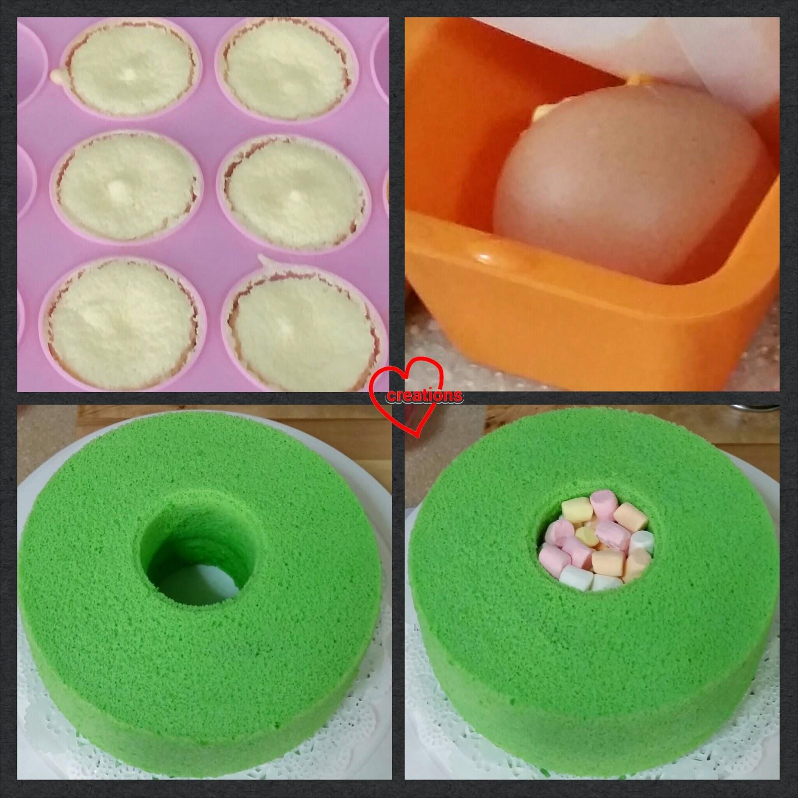 Loving Creations for You: Elmo Pandan Chiffon Cake