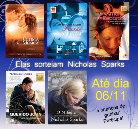 Promoção Elas sorteiam - Nicholas Sparks