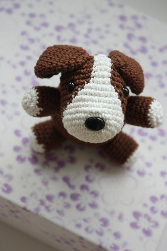 Free Pattern For Amigurumi Dog : HAPPYAMIGURUMI: Amigurumi Dog Pattern in process