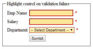 highlight asp.net controls on validation failure