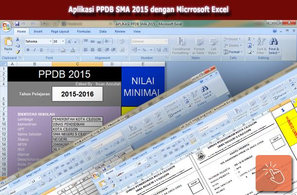 Aplikasi PPDB SMA 2015 dengan Micrrosoft Excel