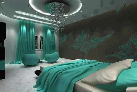 Turquoise color bedroom DORMITORIOS TURQUESA