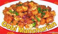 Gobi (CauliFlower) Manchurian Recipe in Tamil
