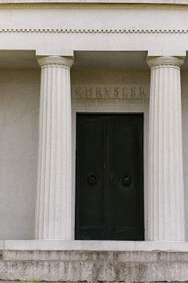 Entrance to Walter Chrysler's Mausoleum at Sleepy Hollow Cemetery