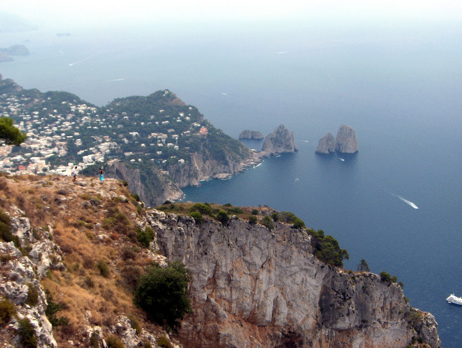 Capri, italy, caprese, getting to capri from Sorrento, from Naples, travel, sea stacks, view,