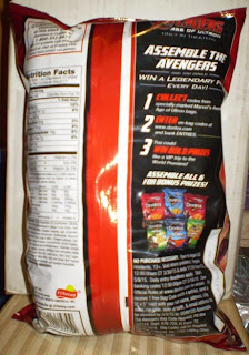 Back of the Nacho Cheese Doritos with Iron Man bag