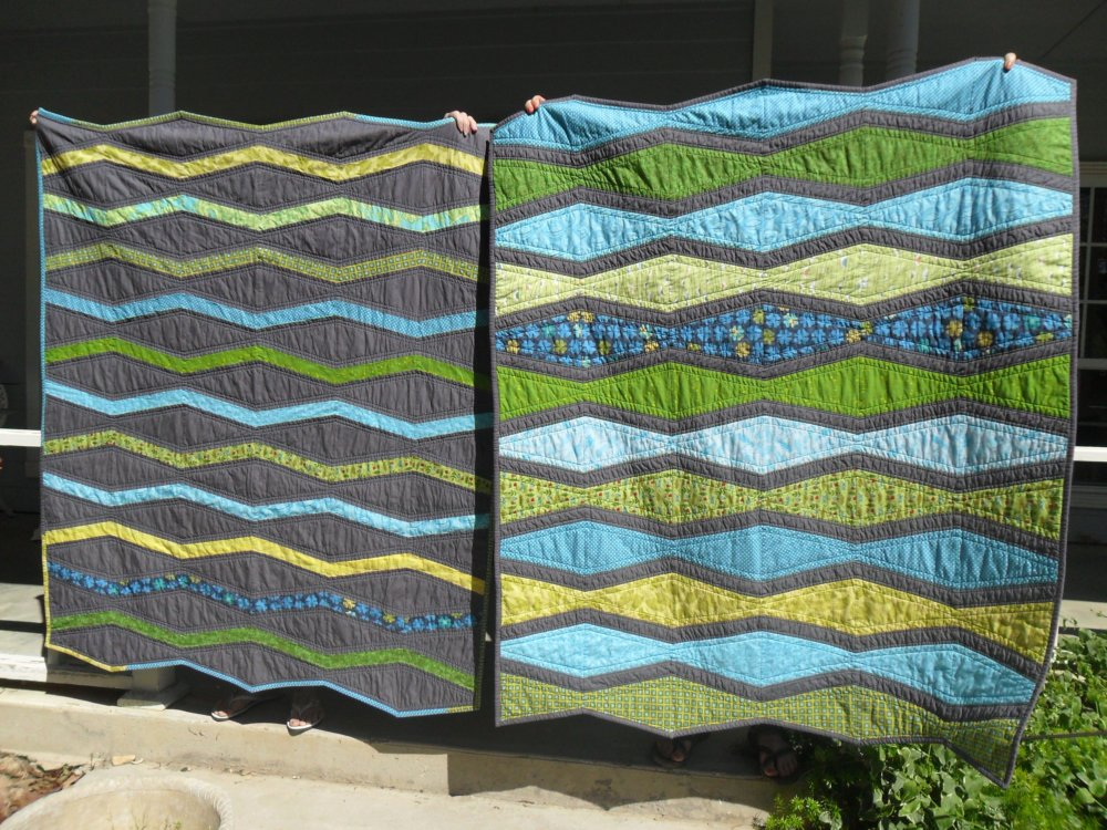 Kat cat quilts making waves finished quilts for sale for Quilts for sale