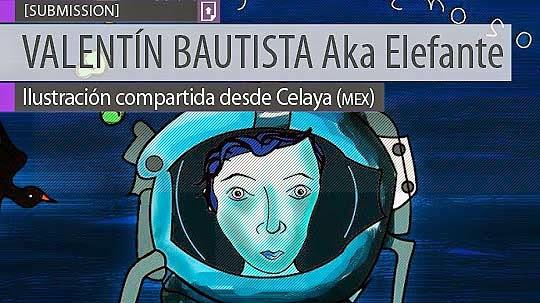 Ilustración. Astronauta de VALENTÍN BAUTISTA
